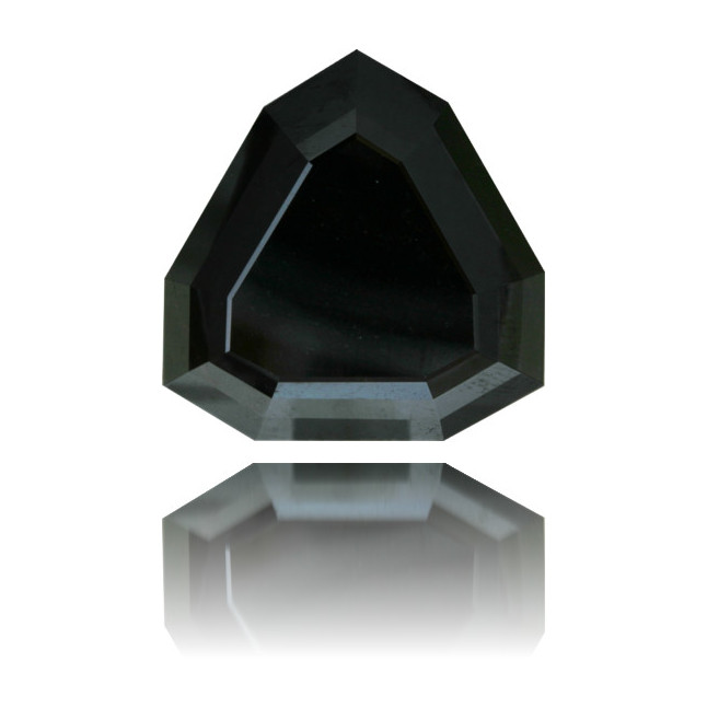 Natural Black Diamond Hexagon 28.32 ct Polished