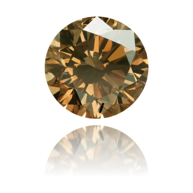 Natural Brown Diamond Round 3.24 ct Polished