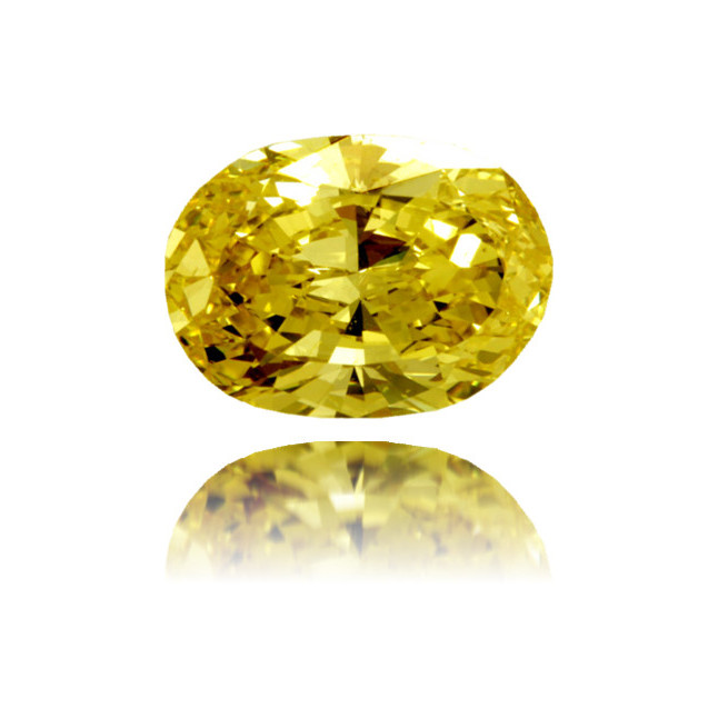 Natural Yellow Diamond Cushion 3.48 ct Polished