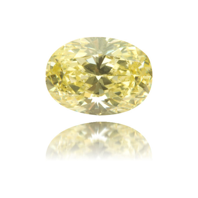 Natural Yellow Diamond Oval 0.49 ct Polished