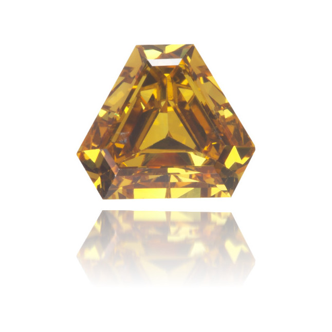 Natural Orange Diamond Triangle 0.38 ct Polished