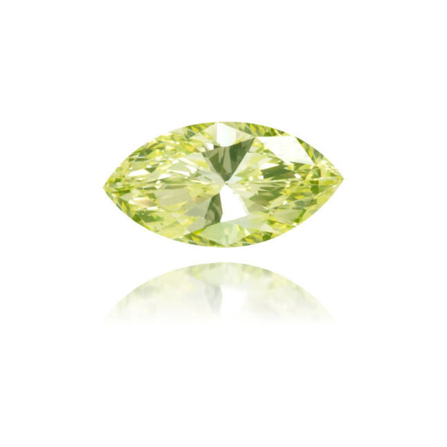 Natural Green Diamond Marquise 0.18 ct Polished