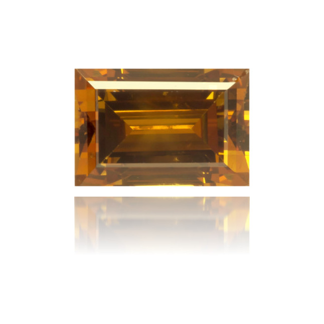 Natural Orange Diamond Rectangle 0.45 ct Polished