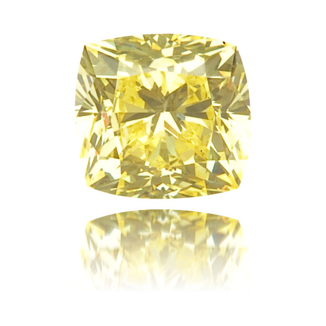 Natural Yellow Diamond Square 0.24 ct Polished