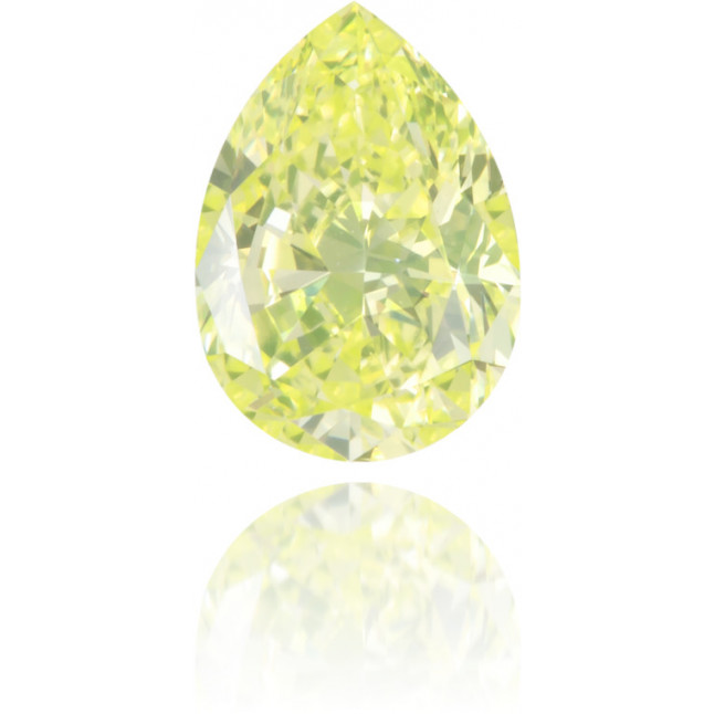Natural Green Diamond Pear Shape 0.44 ct Polished