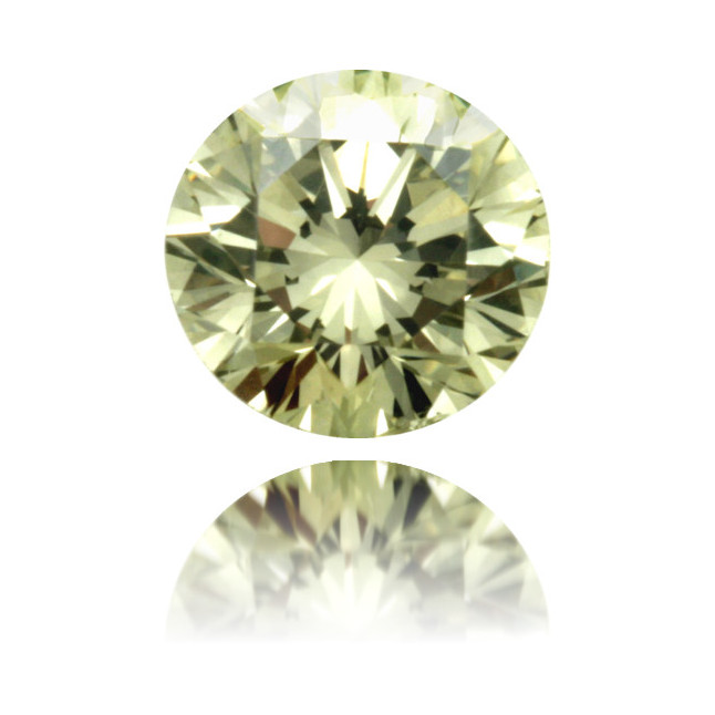 Natural Green Diamond Round 0.30 ct Polished