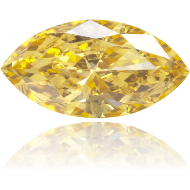 Natural Orange Diamond Marquise 0.14 ct Polished