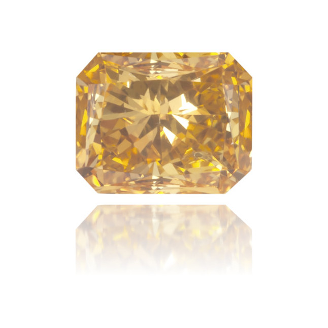 Natural Orange Diamond Rectangle 0.28 ct Polished