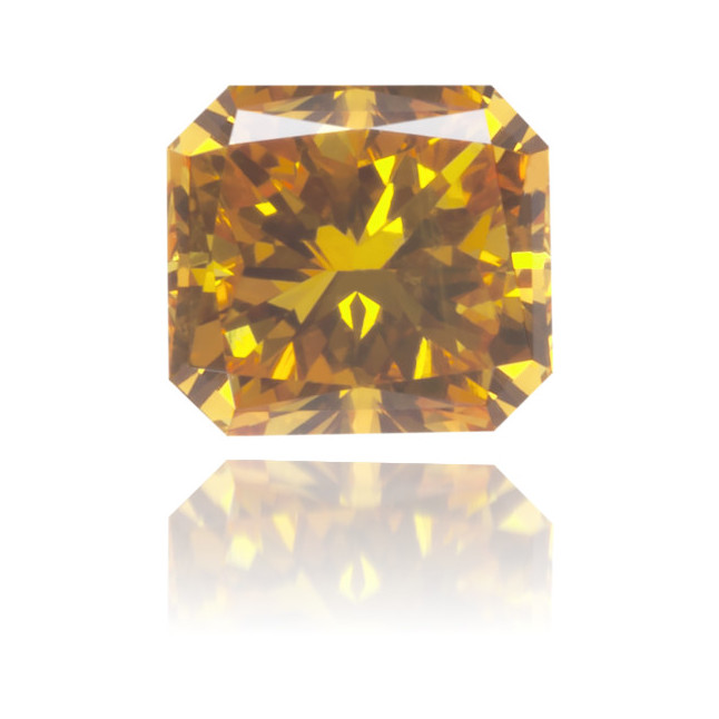 Natural Orange Diamond Square 0.32 ct Polished