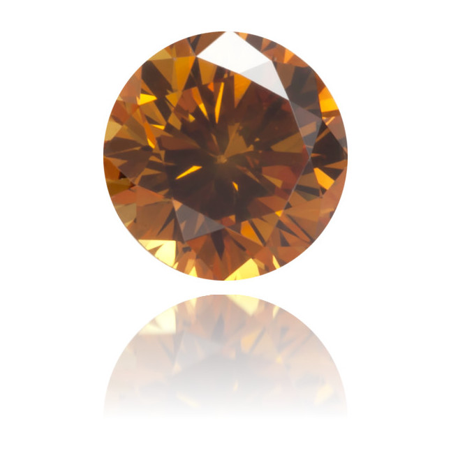 Natural Orange Diamond Round 0.26 ct Polished