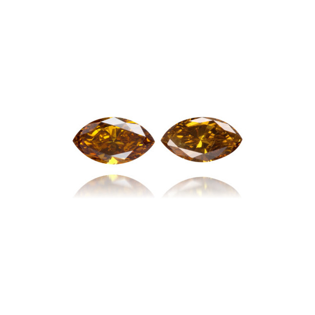 Natural Brown Diamond Marquise 0.39 ct Set