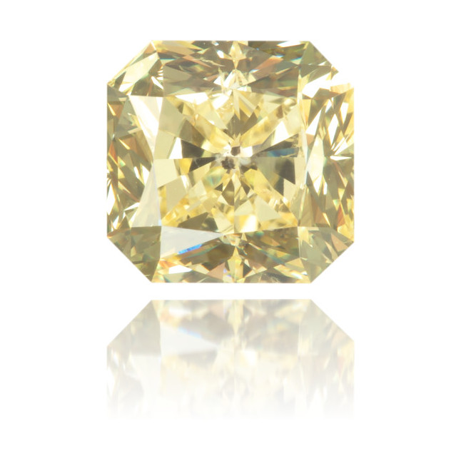 Natural Yellow Diamond Square 1.26 ct Polished