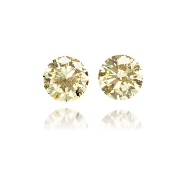 Natural Yellow Diamond Round 0.84 ct Set