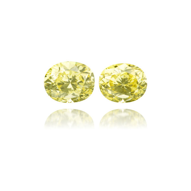 Natural Yellow Diamond Oval 1.23 ct Set