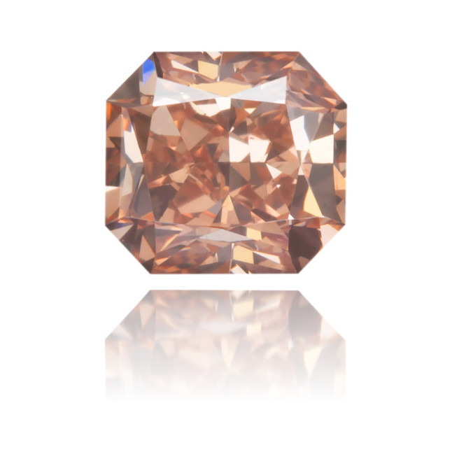 Natural Pink Diamond Square 0.47 ct Polished