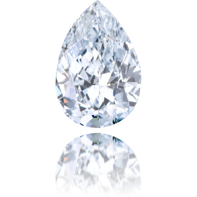 Natural Blue Diamond Pear Shape 0.50 ct Polished