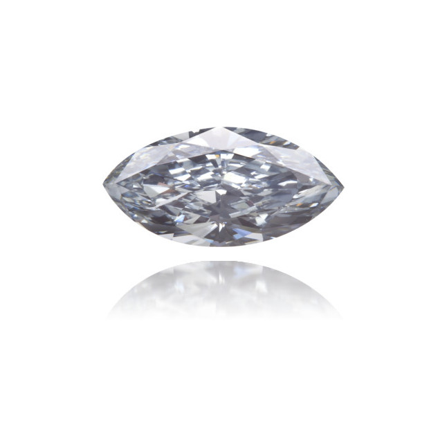 Natural Blue Diamond Marquise 0.46 ct Polished