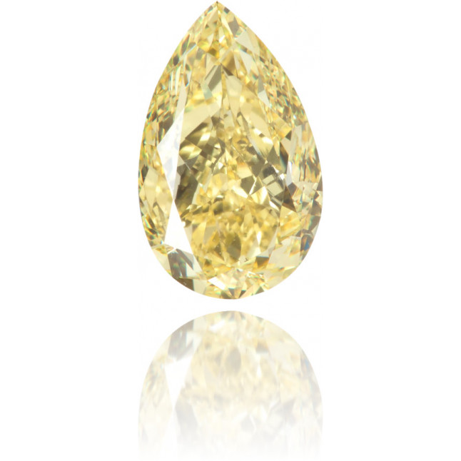 Natural Yellow Diamond Pear Shape 1.08 ct Polished