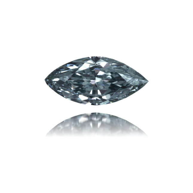 Natural Blue Diamond Marquise 0.37 ct Polished