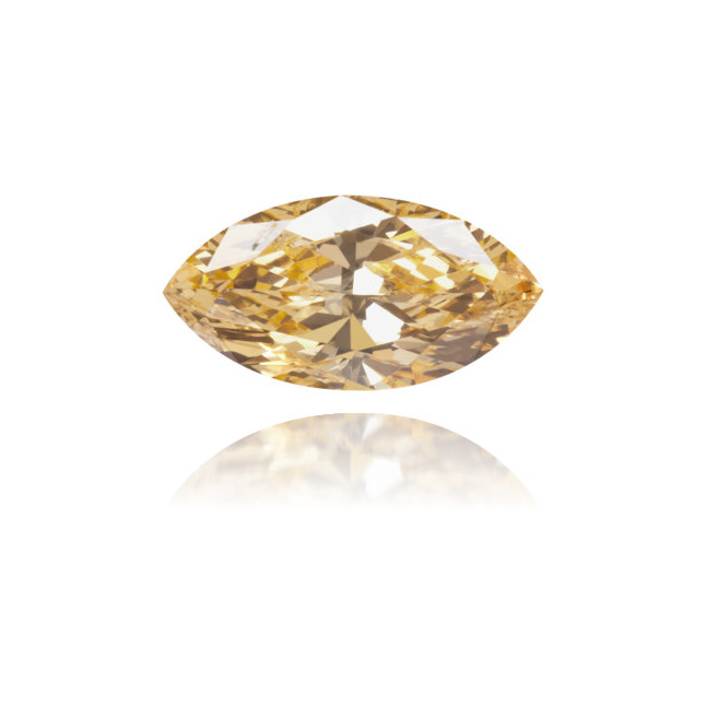 Natural Orange Diamond Marquise 0.33 ct Polished