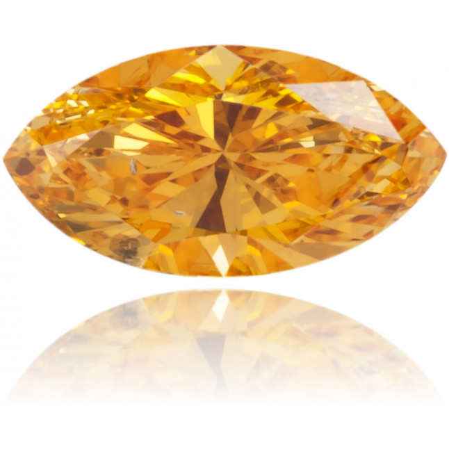 Natural Orange Diamond Marquise 0.19 ct Polished
