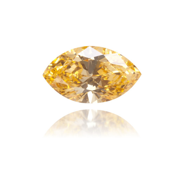 Natural Orange Diamond Marquise 0.12 ct Polished