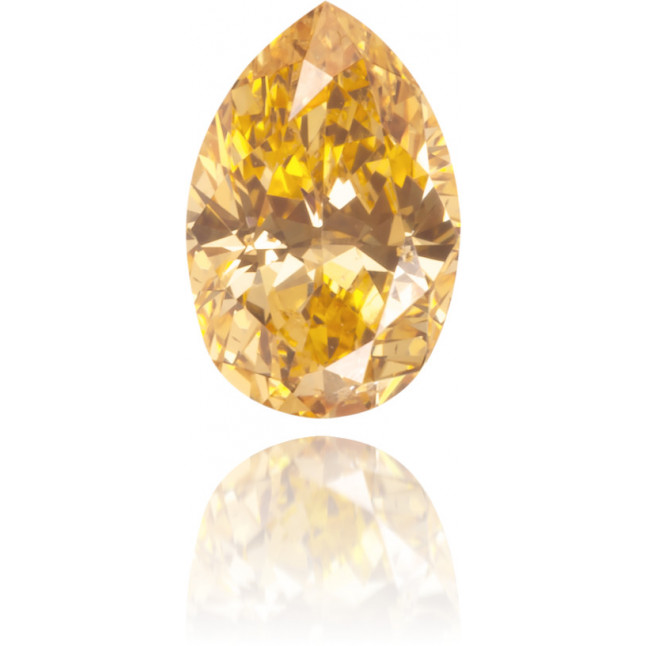 Natural Orange Diamond Pear Shape 0.26 ct Polished