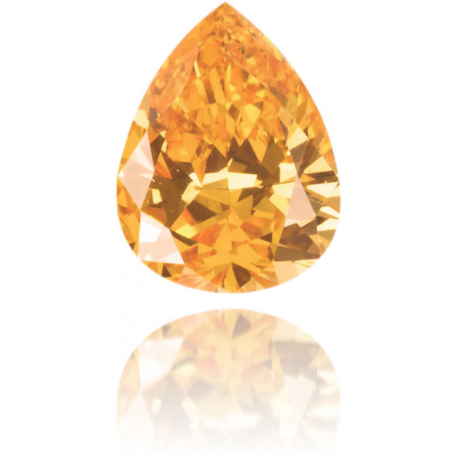 Natural Orange Diamond Pear Shape 0.16 ct Polished