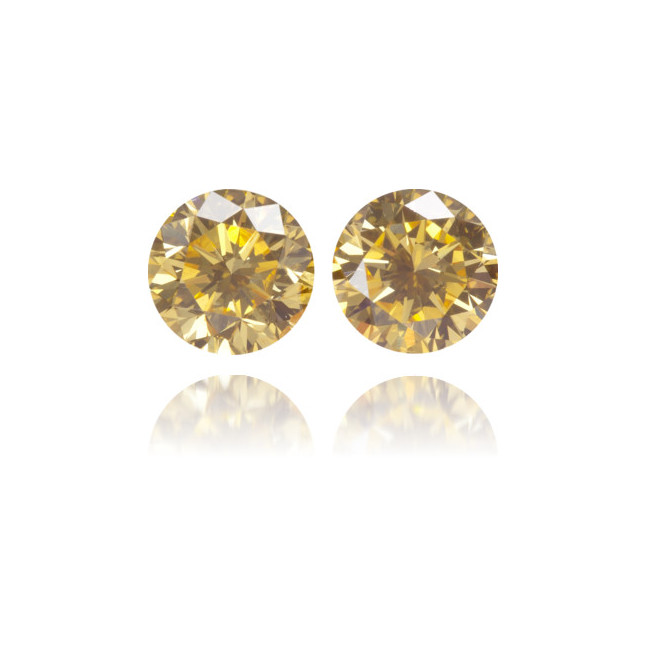 Natural Orange Diamond Round 0.68 ct Set