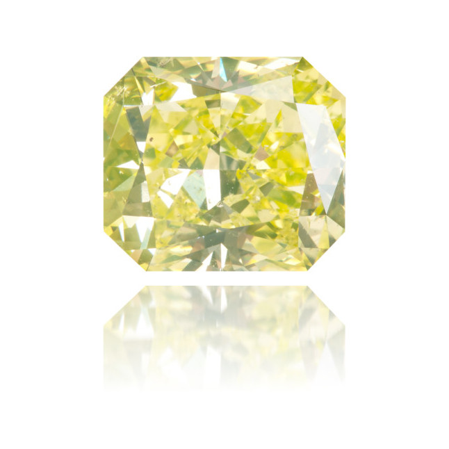 Natural Green Diamond Square 3.11 ct Polished