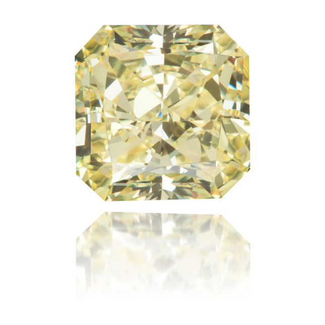 Natural Yellow Diamond Square 2.82 ct Polished