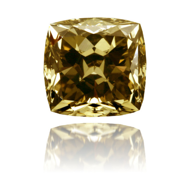 Natural Yellow Diamond Square 2.14 ct Polished