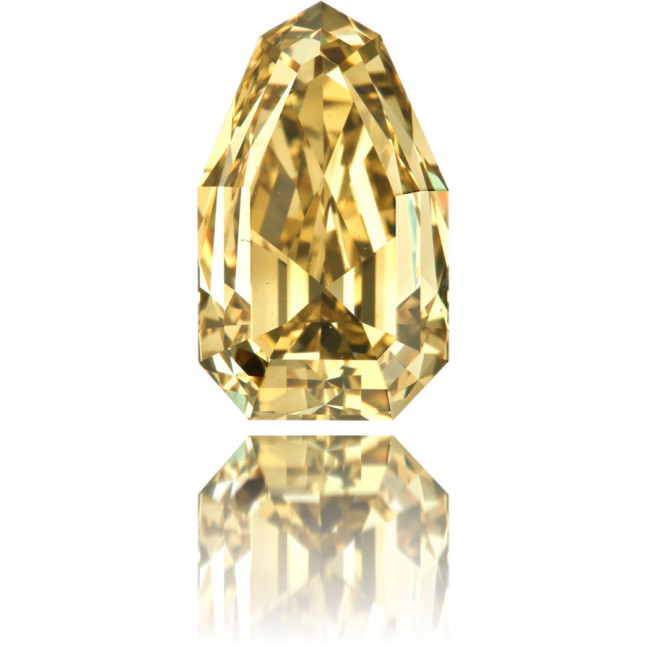 Natural Yellow Diamond Pear Shape 3.13 ct Polished