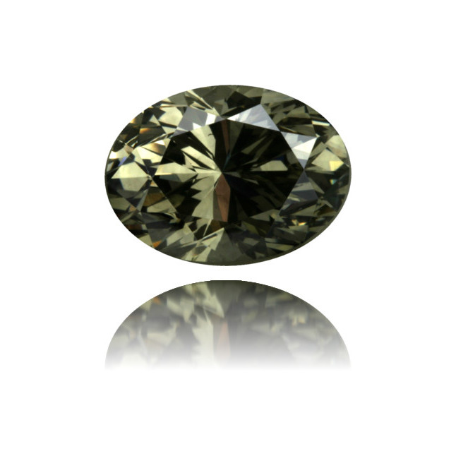 Natural Green Diamond Oval 1.33 ct Polished