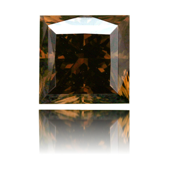 Natural Brown Diamond Square 2.03 ct Polished