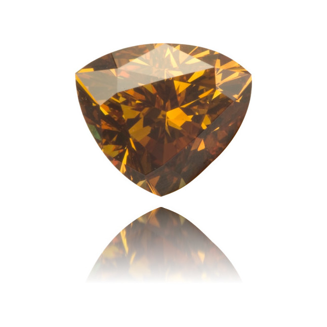 Natural Orange Diamond Triangle 1.12 ct Polished