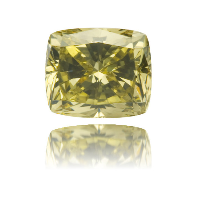 Natural Green Diamond Square 0.56 ct Polished