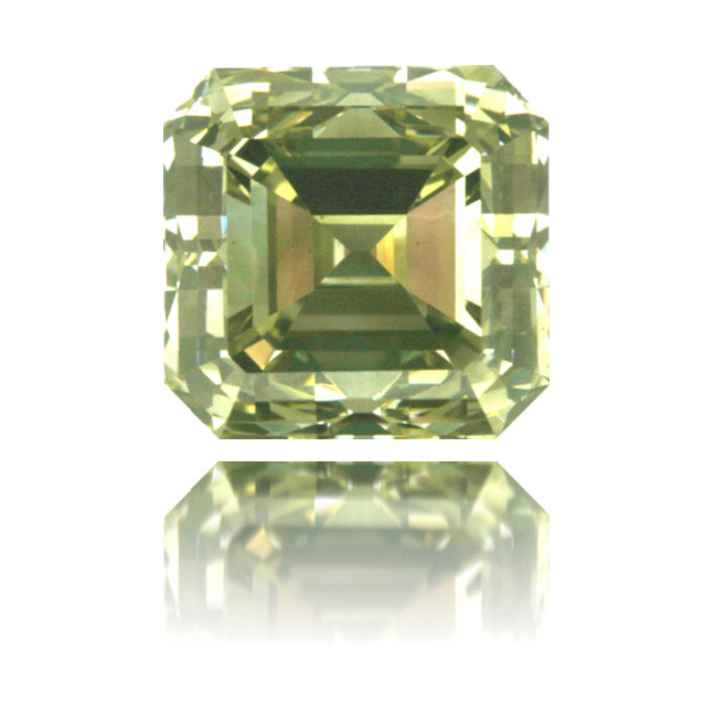 Natural Green Diamond Square 1.97 ct Polished