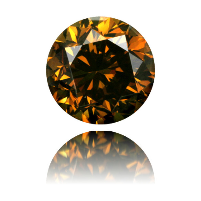 Natural Orange Diamond Round 1.04 ct Polished