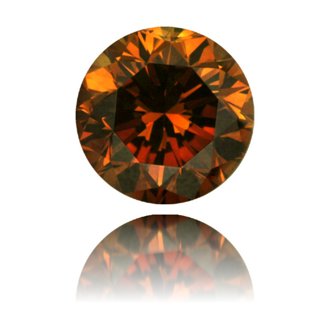 Natural Orange Diamond Round 1.01 ct Polished