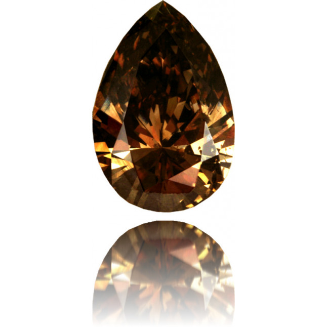 Natural Brown Diamond Pear Shape 2.54 ct Polished