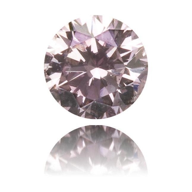 Natural Purple Diamond Round 0.12 ct Polished