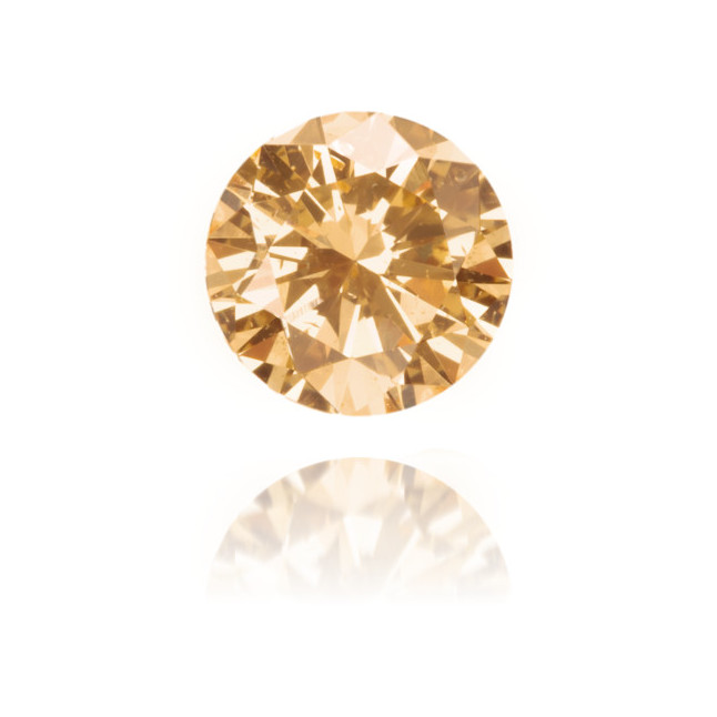 Natural Orange Diamond Round 0.35 ct Polished
