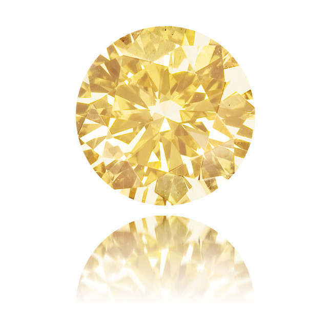 Natural Orange Diamond Round 0.38 ct Polished