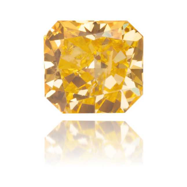 Natural Orange Diamond Square 0.27 ct Polished