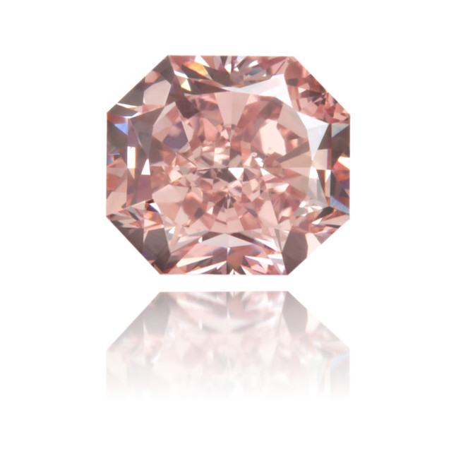 Natural Pink Diamond Rectangle 0.67 ct Polished