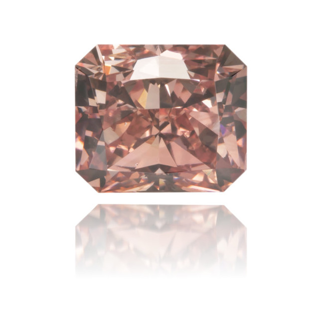 Natural Pink Diamond Square 0.67 ct Polished