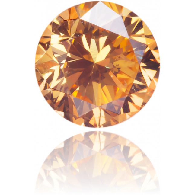 Natural Orange Diamond Round 0.24 ct Polished