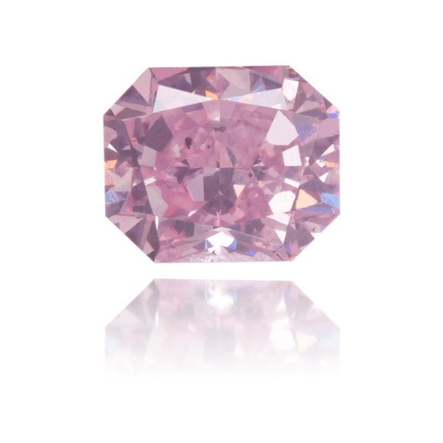 Natural Pink Diamond Square 0.37 ct Polished