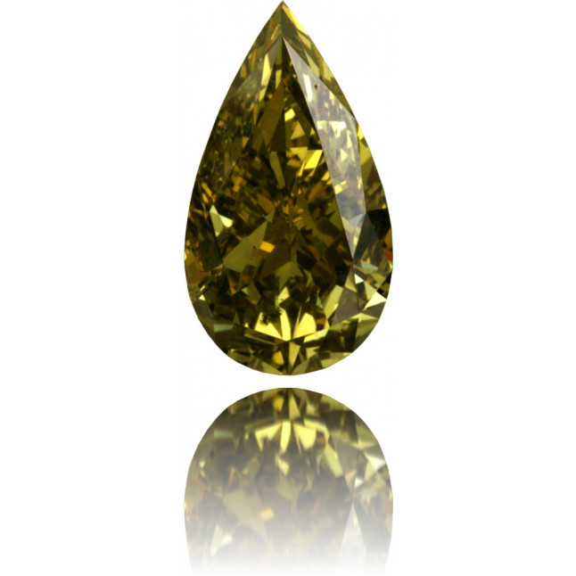 Natural Green Diamond Pear Shape 1.13 ct Polished